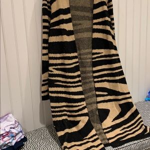 Chicos animal print long sweater